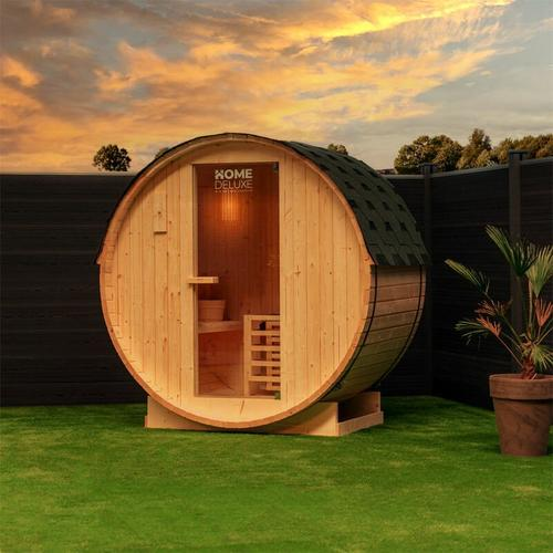 Home Deluxe - Outdoor Fasssauna inkl. Saunaofen Lahti M | Gartensauna, Sauna