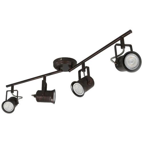 4-flammige LED-Deckenleuchte, rustikaler Stil