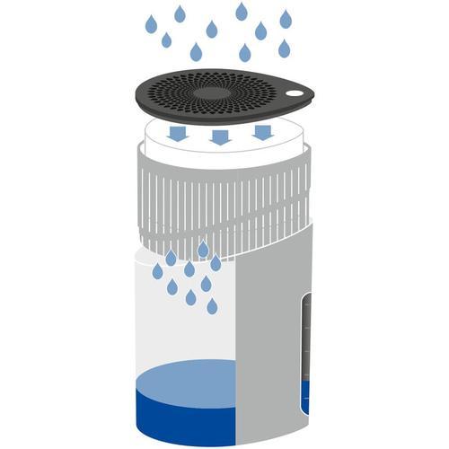 Raumentfeuchter Drop Weiß 1000 g, 2er Set - Gehäuse: Weiß, Calciumchlorid: Weiß, Korb: Anthrazit