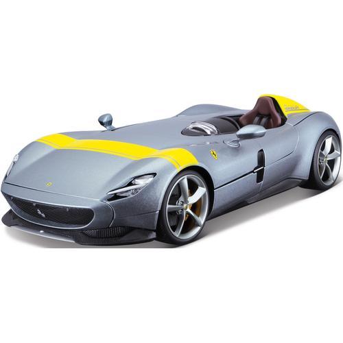 Bburago Sammlerauto Ferrari Monza SP1, 1:18 grau Kinder Modellautos Modellfahrzeuge Autos, Eisenbahn Modellbau
