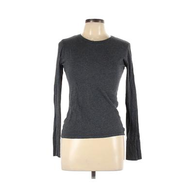 So Wear It Declare it - So Wear It Declare it Long Sleeve T-Shirt: Gray Solid Tops - Size Large