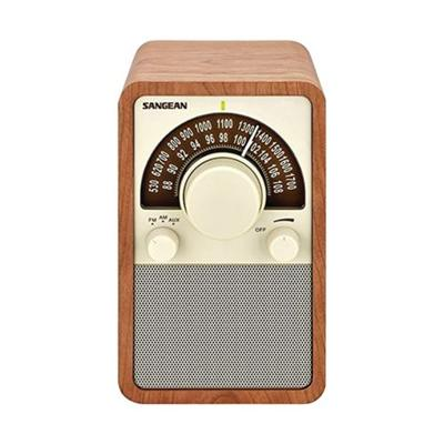 Sangean Brown AM/FM Tabletop Radio (Walnut)