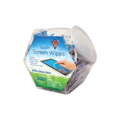 Dust-Off Blue Dust Off Touch Screen Wipes - 200 Count