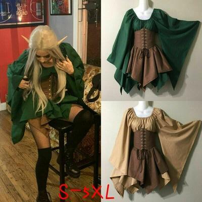 Corset Elf boisé, tenue pour femmes, déguisement médiéval, tenue féerique