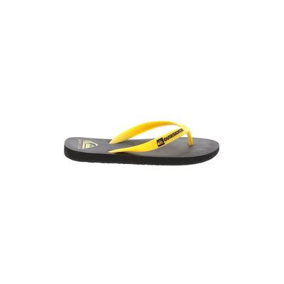 Quiksilver Flip Flops: Yellow Solid Shoes - Size 4