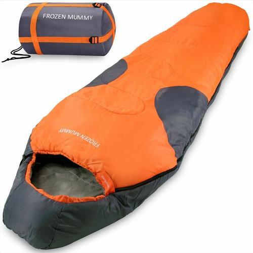 Deuba - Schlafsack Frozen Mummy 230x82cm Mumienschlafsack - 21°C Zelt Outdoor Camping