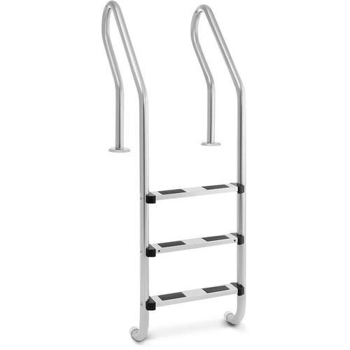 UNI_POOL_LADDER_1600 Poolleiter Edelstahl 3 Stufen - Uniprodo
