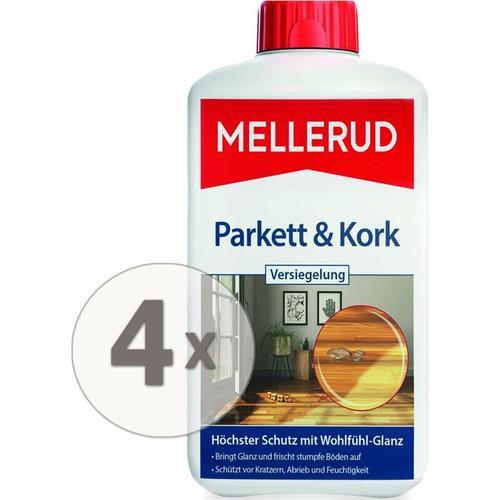 4 x 1 Liter Parkett & Kork Versiegelung Pflege & Glanz ohne polieren - Mellerud