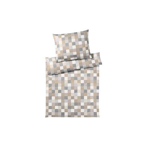 JOOP! Bettwäsche Mosaic Bettwäsche Mosaik Sand 155 x 220 cm + 80 x 80 cm 1 Stk.