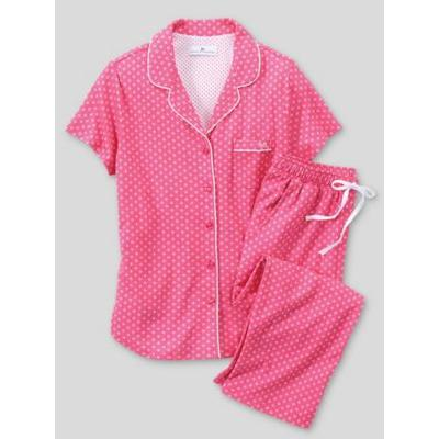 Women's Karen Neuburger Heaven Above Pink Capri Pajamas, Pink Geo P-L