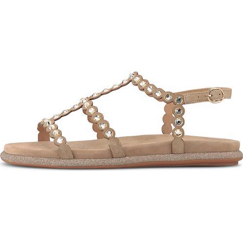 Alma en Pena, Ethno-Sandale in beige, Sandalen für Damen Gr. 40