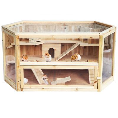 Cage À Hamster Cabane En Bois Souris Cages pour Petits Animaux Hamster Cachette Rat Chambre Jouer