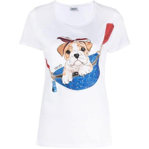Liu Jo T-Shirt mit Hunde-Print