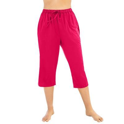 Plus Size Women's Taslon Capri Coverup Pant by Swim 365 in Salsa (Size 26/28)