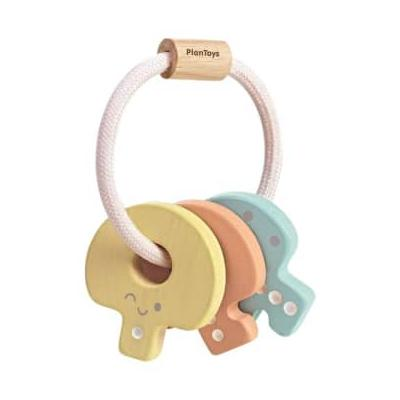 Plan Toys - Baby Key Rattle - PASTEL