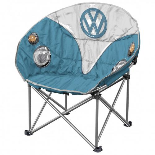VW Collection - VW T1 Bus Faltbarer Sessel - Campingstuhl Gr 52 x 85 x 52 cm grau/blau