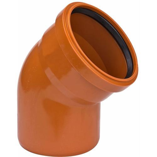 KG Bogen DN 400 / 45° KGB Winkel Kunststoff Abwasserrohr Abflussrohr Kanalrohr
