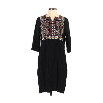 Scotch & Soda - Scotch & Soda Casual Dress - Shirtdress: Black Solid Dresses - Used - Size P