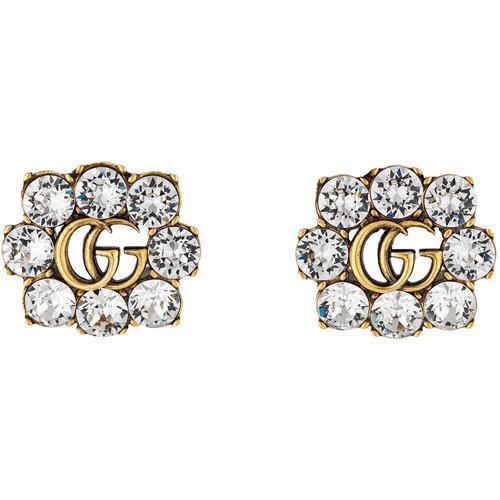 Gucci Doppel G Ohrringe mit Kristallen