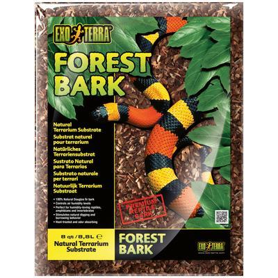 Exo Terra Terrarien-Substrat Forest Bark Waldrinde, 8,8 l braun Terrarien-Zubehör Terraristik Tierbedarf