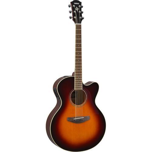 Yamaha Akustikgitarre E-Akustikgitarre CPX600OVS, Old Violin Sunburst braun Audio SOFORT LIEFERBARE Technik