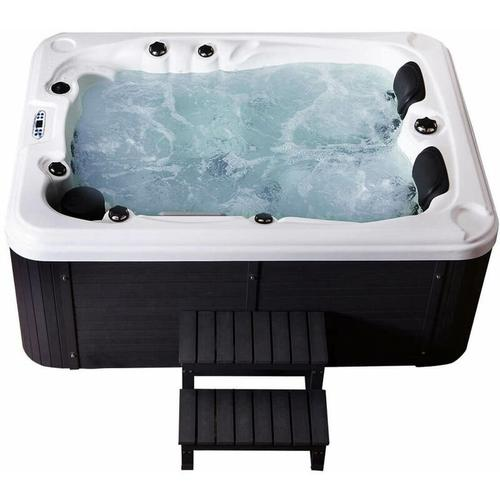 Outdoor Whirlpool Beach plus Treppe und Thermoabdeckung I Jacuzzi, Außenpool, Spa - Home Deluxe