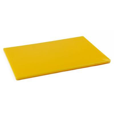 Browne 57361217 Cutting Board, 12 x 18 x 1/2 in, Medium-Density Poly Board, Yellow