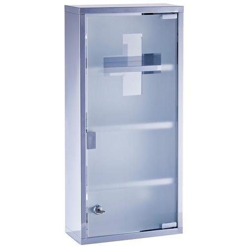 Zeller Present Medizinschrank Medizin silberfarben Apothekerschränke Küchenschränke Küchenmöbel