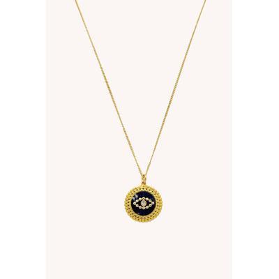 Evil Eye Medallion Necklace