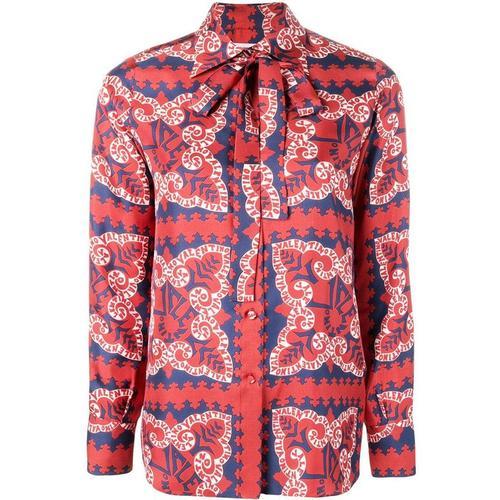 Valentino Bedruckte Bluse aus Seide