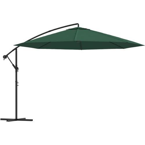 Freiarm-Sonnenschirm 3,5m Grün