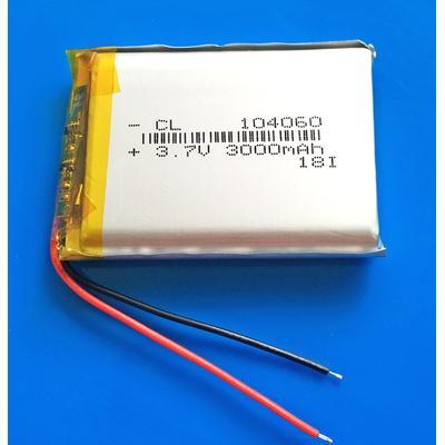 Lipo – batterie lithium polymère Rechargeable, 3.7V, 3000mAh, pour GPS, batterie externe, tablette,