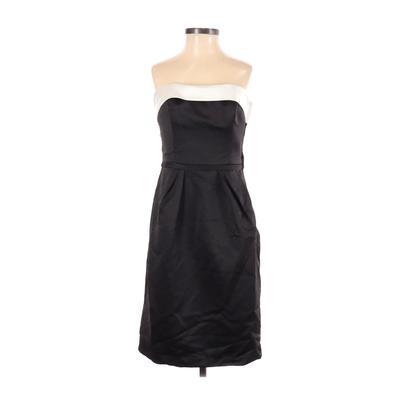 David's Bridal Cocktail Dress - Sheath: Black Solid Dresses - Used - Size 2
