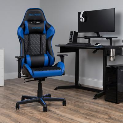 RESPAWN 100 Racing Style Gaming Chair in Blue - OFM RSP-100-BLU