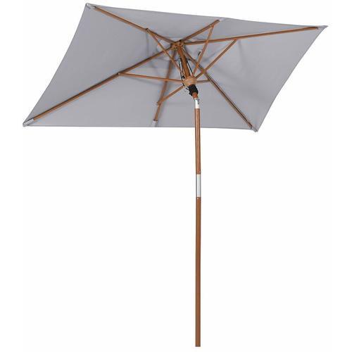Sonnenschirm für den Balkon, 210 x 140cm, rechteckiger Balkonschirm, Sonnenschutz bis UPF 50+,