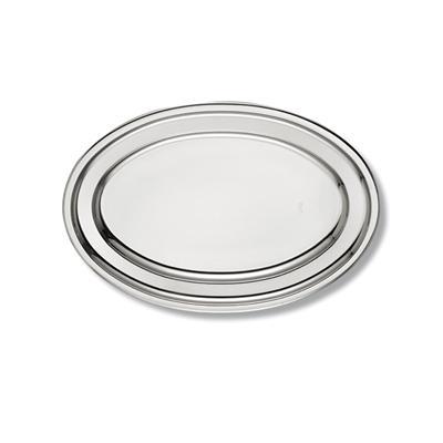 Plat ovale en inox ALFA 45 cm