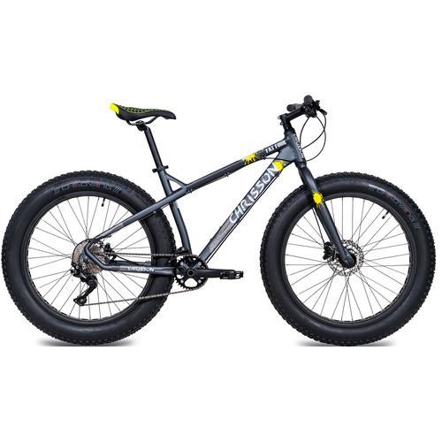 Chrisson Fatbike Fat Four, 10 Gang, Shimano, Deore RD-M6000-GS Schaltwerk, Kettenschaltung grau Alle Fahrräder Zubehör