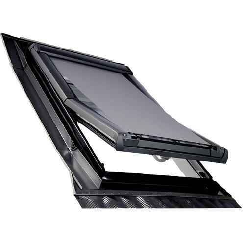 RORO Türen & Fenster Dachfensterrollo Hitzeschutzmarkise, Lichtschutz schwarz Dachfensterrollos Rollos Jalousien