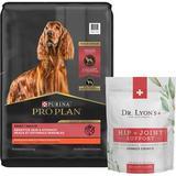 Purina Pro Plan Adult Sensitive Skin & Stomach Salmon & Rice Formula Dry Food + Dr. Lyon's Advanced Strength Hip & Joint Health Soft Chews Dog Supplement