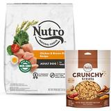 Nutro Natural Choice Adult Chicken & Brown Rice Recipe Dry Food + Crunchy with Real Peanut Butter Dog Treats