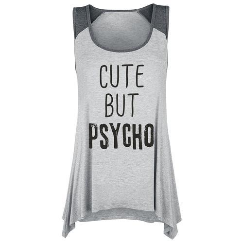 Cute But Psycho Damen-Top - grau