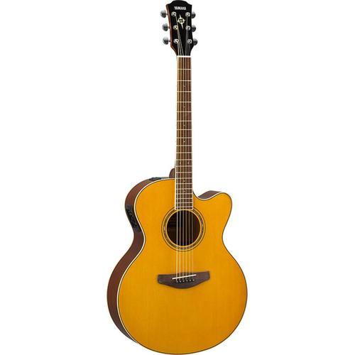 Yamaha Akustikgitarre E-Akustikgitarre CPX600VT, Vintage Tint blau Audio SOFORT LIEFERBARE Technik