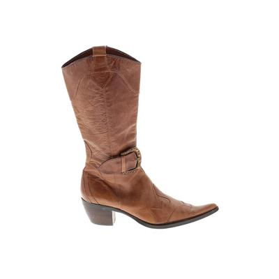 Steven by Steve Madden Boots: Brown Solid Shoes - Size 6