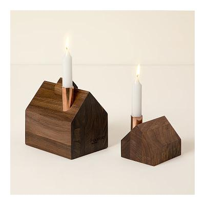 Handmade Wooden House Candle Holder