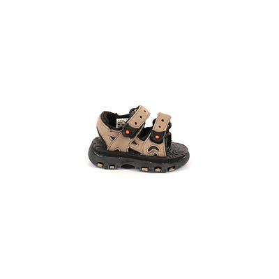 Kid Connection Sandals: Tan Solid Shoes - Size 3