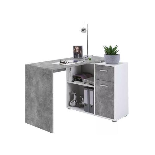 Fmd Mobel - 360-001 ALBRECHT Beton grau / Wei
