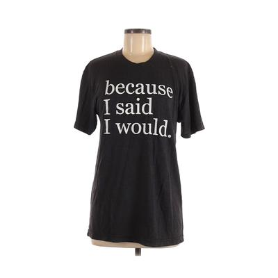 American Apparel - American Apparel Short Sleeve T-Shirt: Gray Graphic Tops - Size Medium