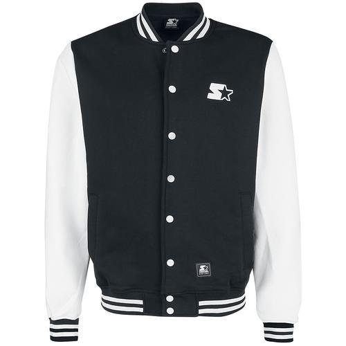 Starter College Fleece Jacket Herren-Collegejacke - schwarz weiß