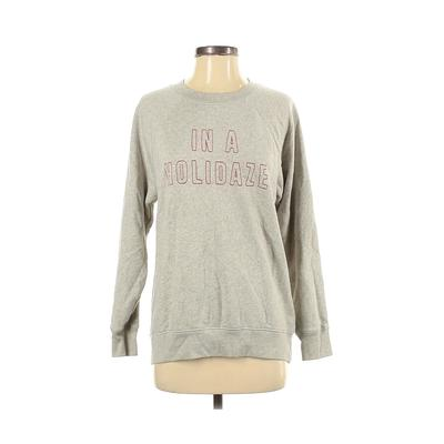 American Eagle Outfitters Sweatshirt: Gray Print Clothing - Size X-Small
