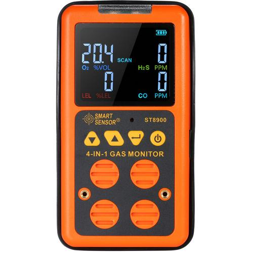Smart Sensor 4 In 1-Gas-Detektor H?S Und Co-Monitor Industrie Digitaler Hand Toxic Gas
